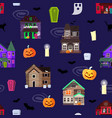 scary horror house dark castle home vector image