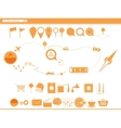 set icons modes of transport navigation vector image
