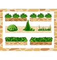 Set of elements for landscape decor vector image