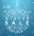 Winter sale in form of a ball of snowflakes vector image vector image