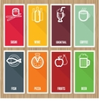 flat banners with cafe icons vector image
