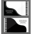 Pioano card design vector image