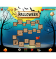 Game template with halloween theme vector image vector image