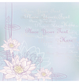 background with blooming water lilies vector image