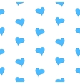 The simple geometry of blue hearts on a white vector image