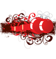 red and black ornaments vector image vector image