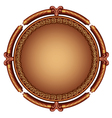 Decorative ornamental frame vector image