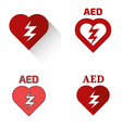 Defibrillator icons set vector image