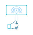 hand with wireless sign vector image