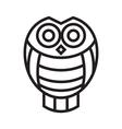 icon owl vector image