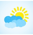 Weather - sun and cloud vector image