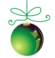 Green Christmas ball decoration vector image vector image
