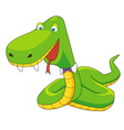 Green snake vector image vector image