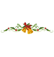 Holly bells christmas vector image vector image