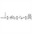 Drug use evolution vector image