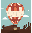 Airballoon design over desertscape background vector image