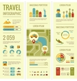 Travel Infographic Elements vector image vector image