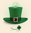 modern design Saint Patricks Day green candle vector image