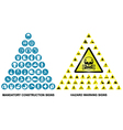 Construction and hazard warning icon collection vector image vector image