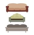 Sofas Set Flat vector image