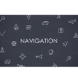 Navigation Thin Line Icons vector image