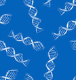 Seamless background with the sketch DNA vector image