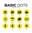 banking flat icons set vector image