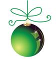 Green Christmas ball decoration vector image