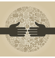 Hand business4 vector image