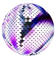 scaled ball vector image