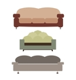 Sofas Set Flat vector image