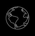 symbol of earth thin line icon vector image