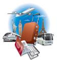 travel around the world vector image