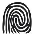 finger print - fingerprint vector image vector image