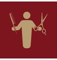 The barber avatar icon Barbershop and hairdresser vector image
