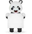 Panda with blank sign vector image