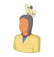 Native Indian man icon cartoon style vector image
