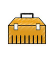 construction toolkit equipment metal box vector image