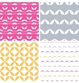 Four bstract leaf shapes geometric patterns vector image vector image