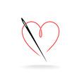 Needle thread logo vector image
