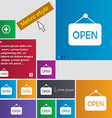 open icon sign buttons Modern interface website vector image