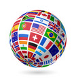 Flags globe vector image vector image