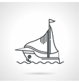 Black line icon for sailing yacht vector image