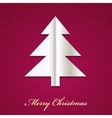 christmas tree made from paper vector image