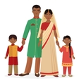 Indian family Indian man and woman with boy and vector image