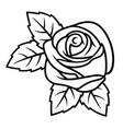 rose sketch 003 vector image