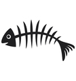 black fish bone vector image vector image