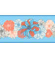 Hand-drawn flowers of dahlia Seamless border vector image vector image