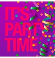 Party design template with streamers vector image