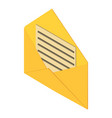 open post envelope icon isometric 3d style vector image